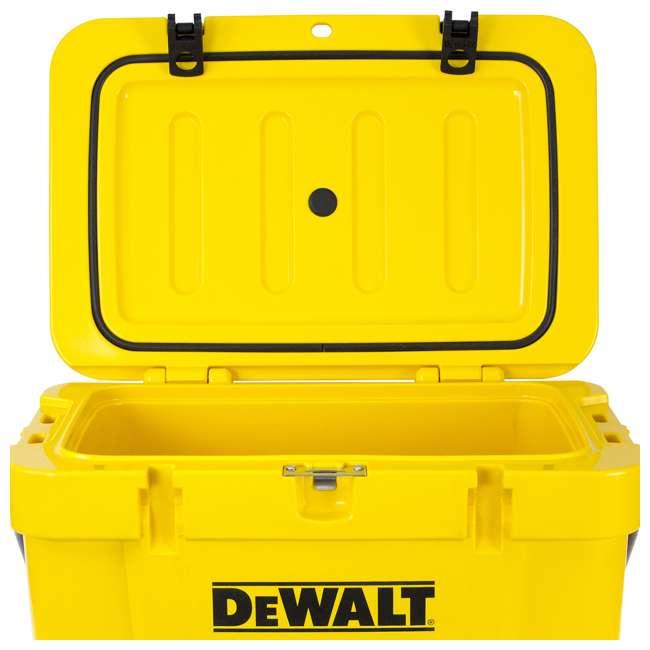 DXC25QT DeWalt 25-Quart Insulated Lunch Box Portable Cooler, Yellow 6