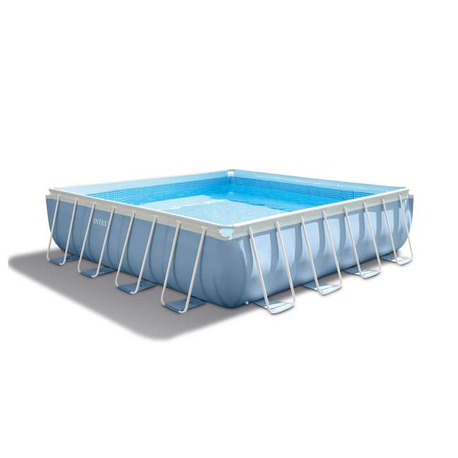 """26765EH + QLC-42003 Intex 16' x 48"""" Prism Frame Above Ground Pool w/ Pump & Cleaning Kit 1"""