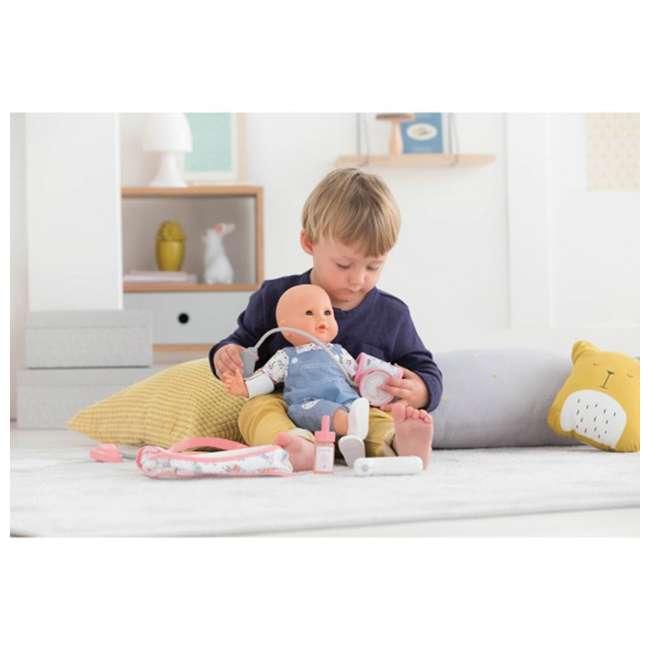 FRV09 + 100130 Corolle Mon Grand Poupon Toy Pediatrician Doctor Set w/ Waterproof Baby Doll 7