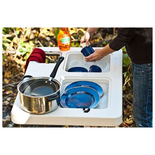 CCC-302 Coldcreek Outfitters Ultimate Portable Outdoor Prep Work Station Table w/ Sinks 5