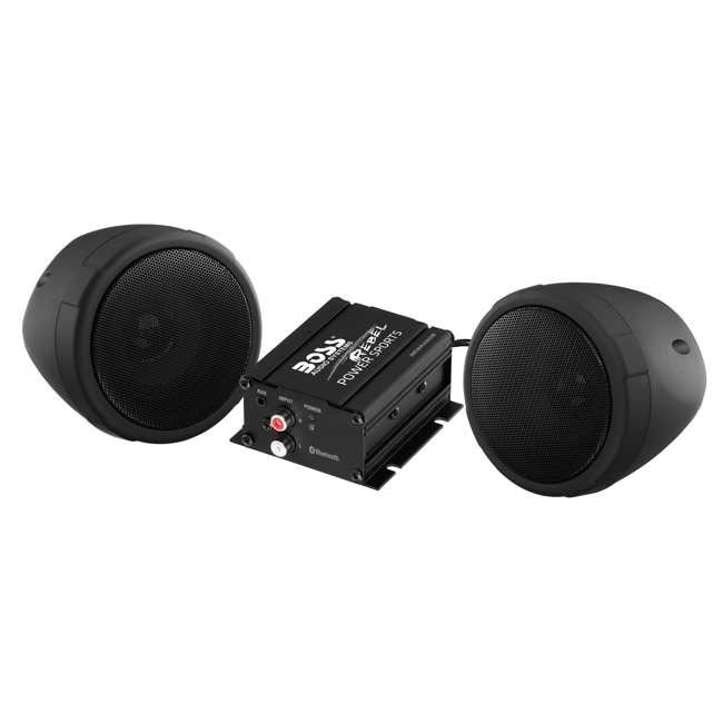 MCBK420B BOSS Audio 600 Watt Waterproof Motorcycle/ATV Bluetooth Speaker System, Black