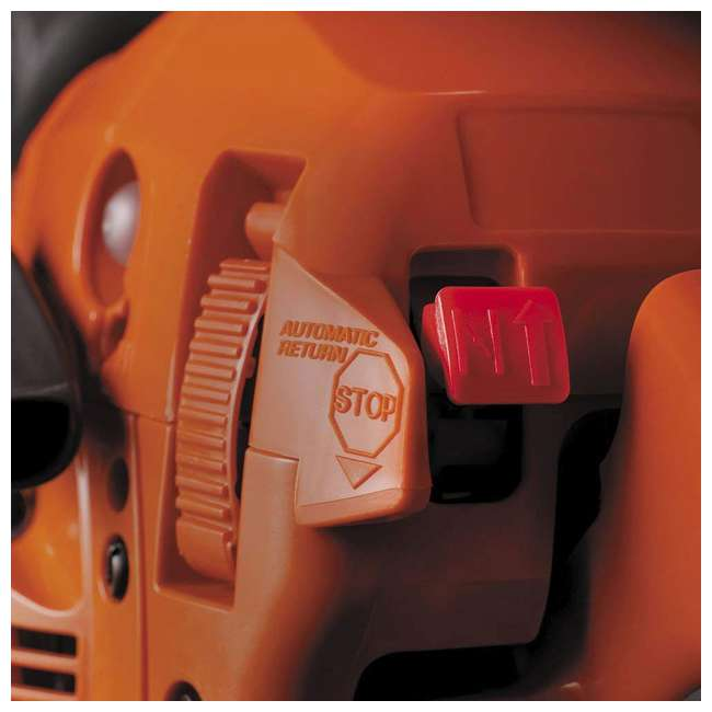 HV-CS-967651004 + HV-TOY-522771104 Husqvarna 445E 18 Inch Bar Gas Chainsaw and 440 Toy Childrens Chainsaw, Orange 8