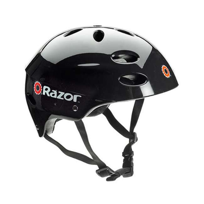 13111210 + 97778 Razor Power Core Electric Kids Toy Motorized Scooter and Youth Helmet, Black 6
