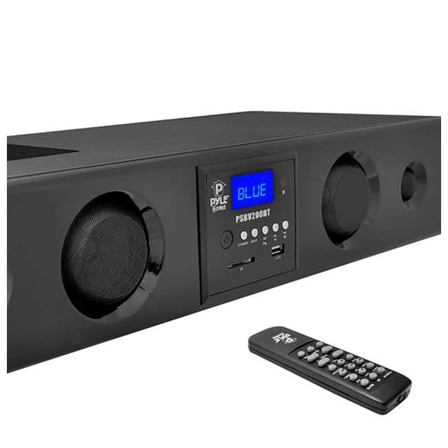 PSBV200BT Pyle 300W Bluetooth USB/SD/FM Radio Soundbar & Remote (2 Pack) 1