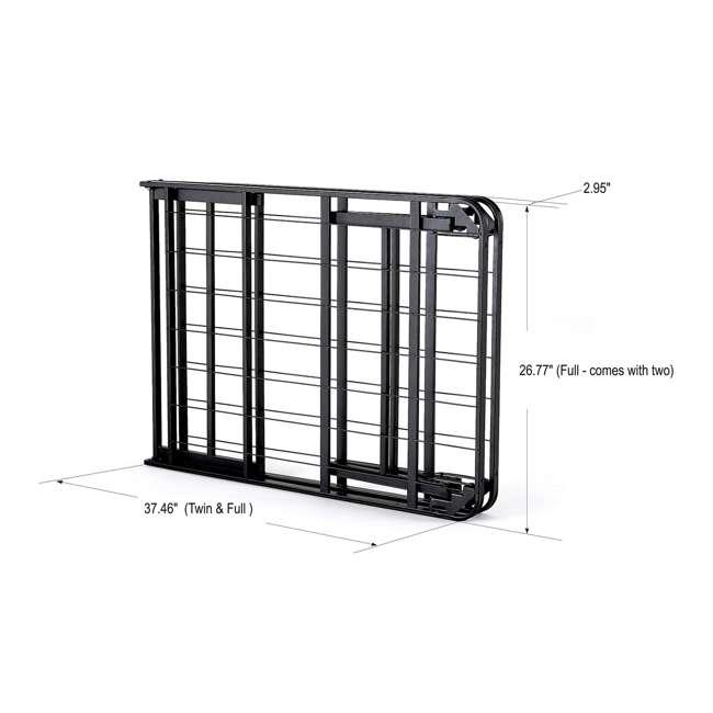 VMI-QIB2-112 + VMI-FIB2-112 intelliBASE Lightweight Platform Bed Frame, Queen with Full Frame 11