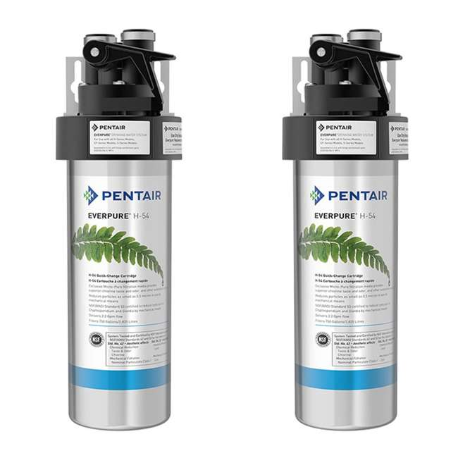 EV925267 Pentair Everpure EV925267 H-54 125 PSI Drinking Water Filtration System (2 Pack)