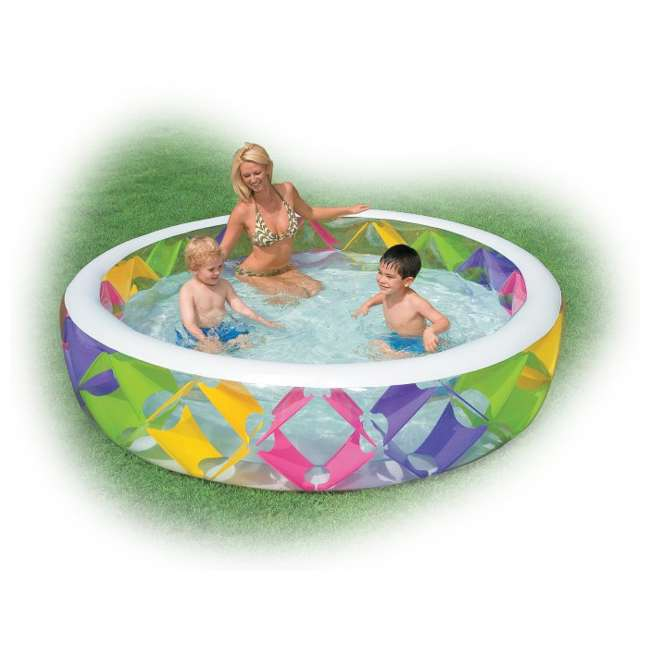 Intex Swim Center Pinwheel Inflatable Swimming Pool 56494ep
