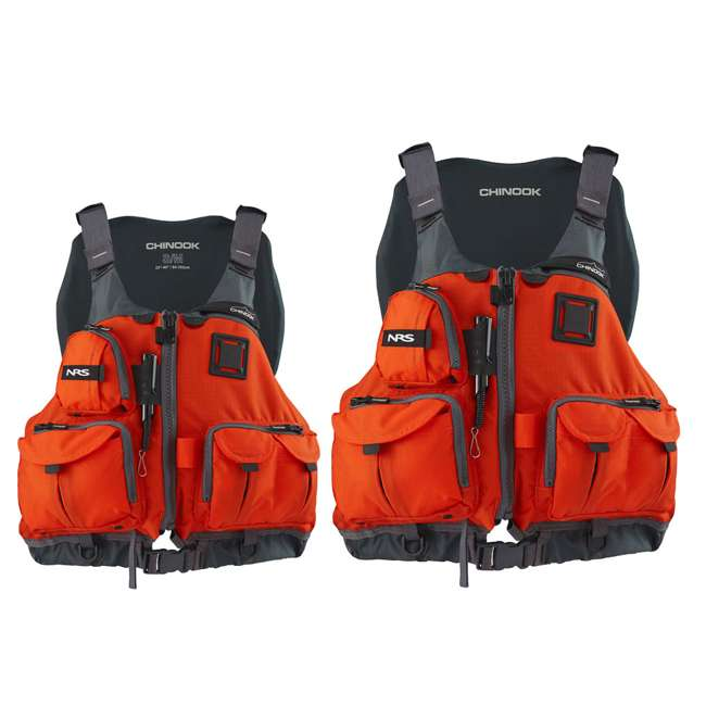 NRS_40009_03_105 + NRS_40009_03_102 NRS Adult Chinook Fishing Boating PFD S/M & L/XL Safety Life Jackets