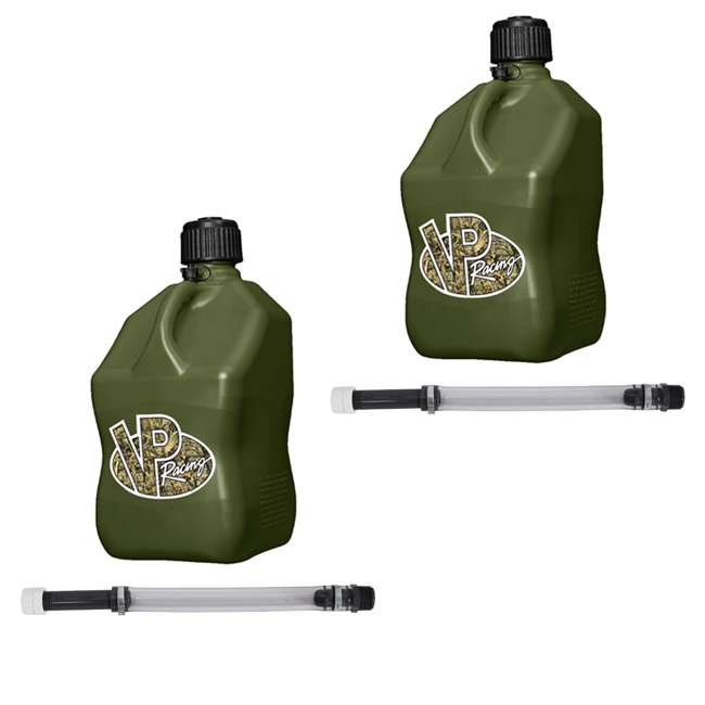 "3842 + 2 x 3044B VP Racing 5-Gallon Motorsport Racing Fuel Gas Can (2 Pack) & 14"" Hose (2 Pack)"