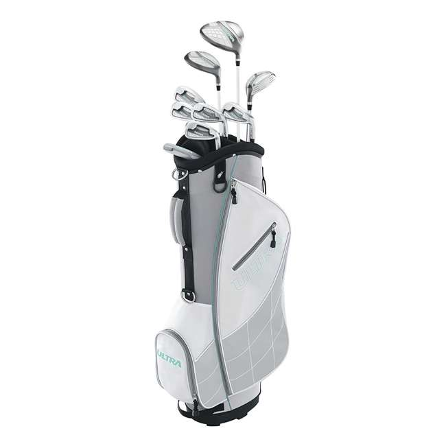 WGGC43300 + GB7-VOICE2-GREY Wilson Ultra Ladies Right-Handed Golf Club Bag Set & Rangefinder 1