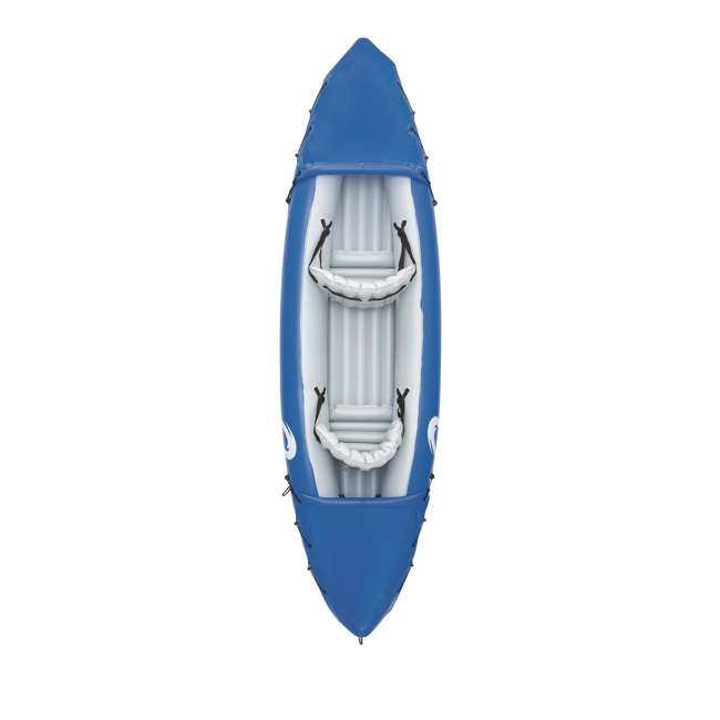 "65077E-BW-U-A Bestway 126 x 35"" Lite-Rapid X2 Inflatable Kayak w/ Oars (Open Box) (2 Pack) 1"