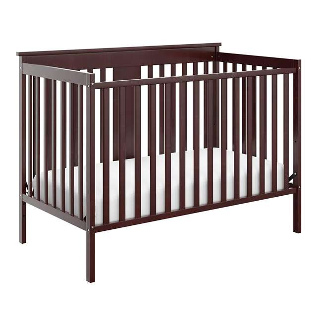 04510-359 + 06711-300 Storkcraft Mission Ridge 4-in-1 Crib in Espresso w/ Mattress 1