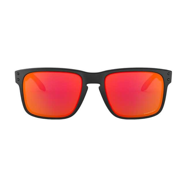 OO9102-E255 Oakley OO9102-E255 Standard Fit Holbrook Sunglasses, Matte Black/Prizm Ruby 1