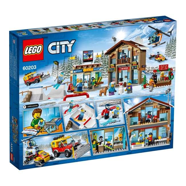 6283902 LEGO City 60203 Winter Ski Resort Building Kit 806 Pieces w/ 11 Minifigures 3