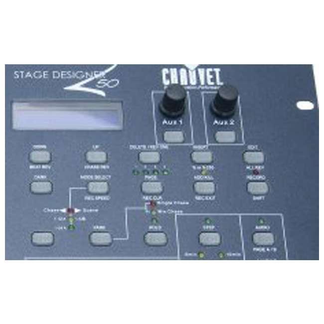 chauvet stage designer 50 48 channel dmx 512 dimming console light controller stage. Black Bedroom Furniture Sets. Home Design Ideas