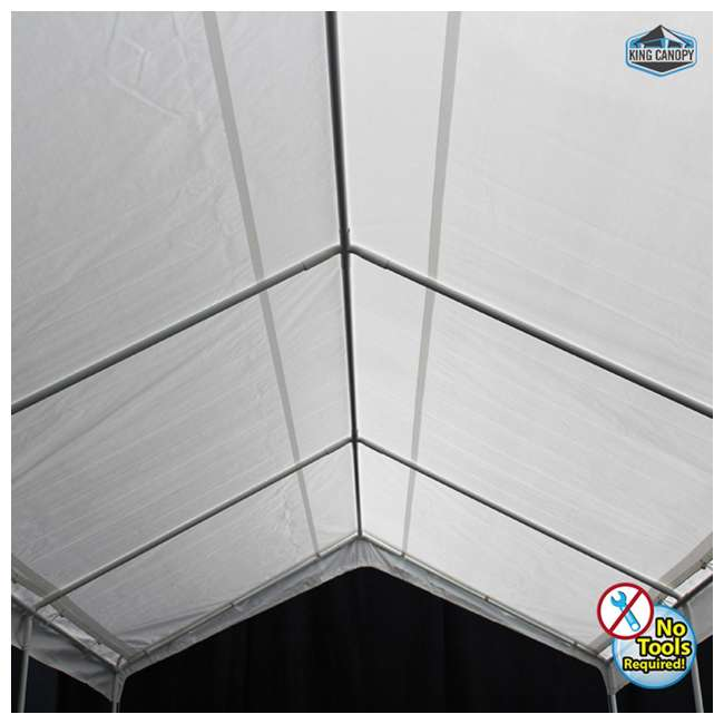 C81020PC King Canopy 10 x 20 Foot Universal Canopy, White 2