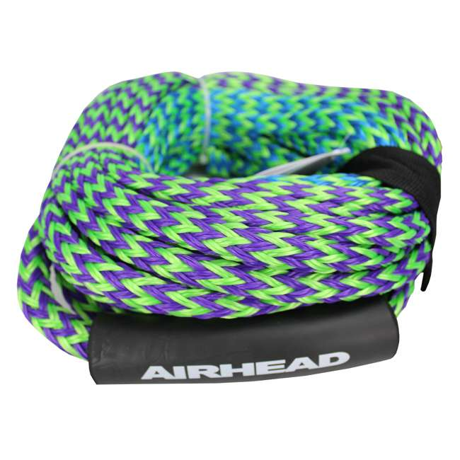 53-1329 + AHTR-42 Sportsstuff 1-4 Person Boat Lake Tube | Airhead Boat 2 Section Tube Tow Rope for 4 Rider 9