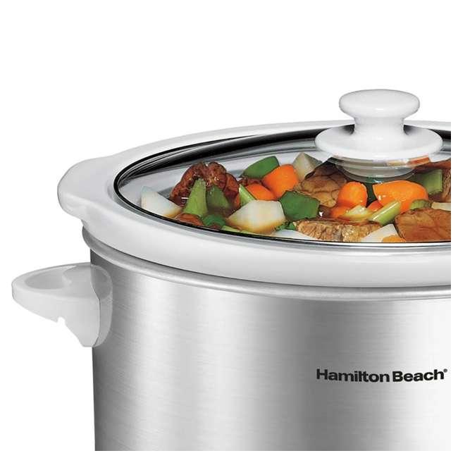 33140V + SLOWCOOKER175 Hamilton Beach Counter Top 4 Quart Oval Slow Cooker Pot & 175 Recipe Cookbook 2