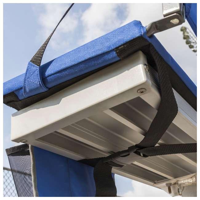 1-1-58814-DS EastPoint Sports Adjustable Bleacher Backrest Seat, Royal Blue 4