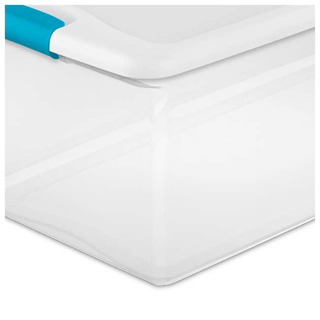 12 x 14928012 + 4 x 14998004 Sterilite 6 Qt Clear Storage Box Container 12 Pack and 106-Qt Storage Box 4 Pack 8