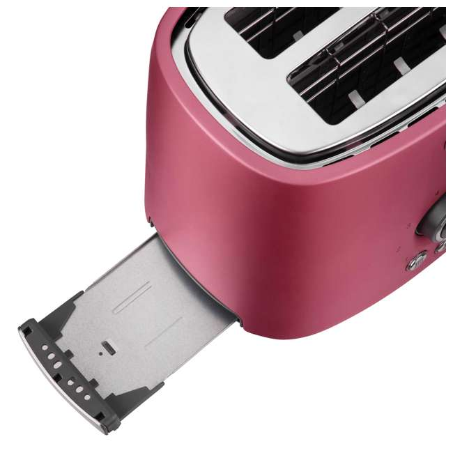 STS6054RD-NAA1 Sencor STS 6054RD Electric Wide 2 Slice High Lift Toaster w/ Rack, Metallic Red 7