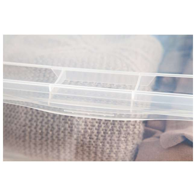 586875-6PK IRIS USA Extra Large Hard Plastic Stackable Closet Clear Storage Bin (12 Pack) 4
