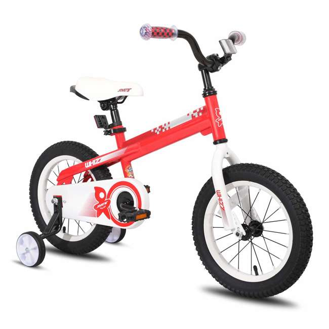 BIKE029rd-16 JOYSTAR Whizz Series 16-Inch Ride On Kids Bike with Training Wheels, Red & White
