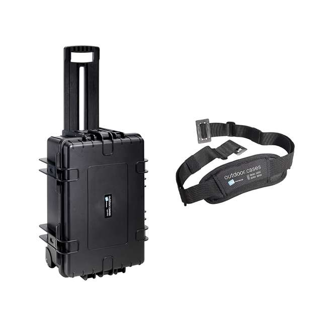 6700/B + CS/3000 B&W International 6700/B 42.8 L Plastic Waterproof Case and Shoulder Carry Strap