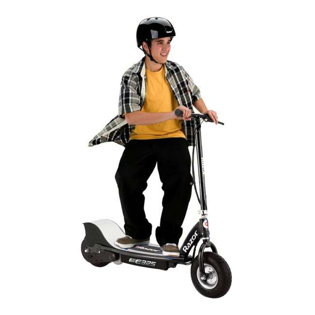 13116397 Razor E325 Electric Motorized Rechargeable Scooter w/ Top Speed of 15 MPH, Black 1