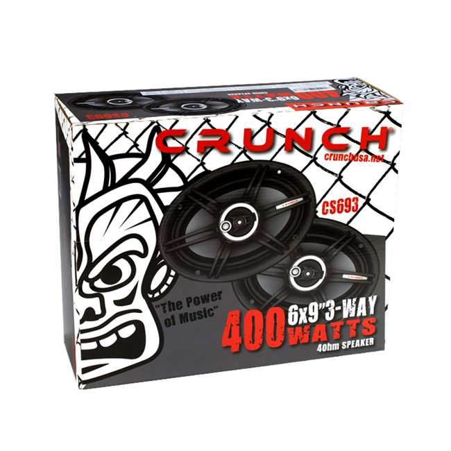 CS693 Crunch 800 Watts 6 x 9 Inches CS Speakers (2 Pack) 4