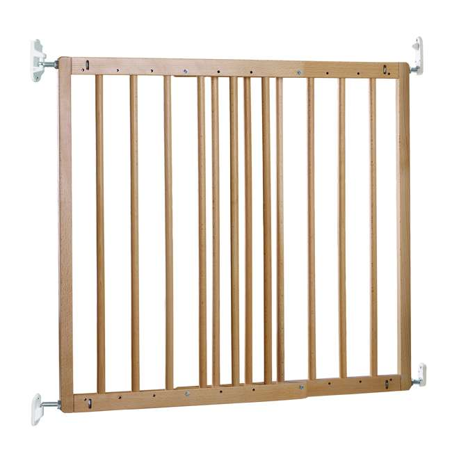 BBD-57112-5400 BabyDan MultiDan Wall Mount 23.9-40.1 Inch Doorway Safety Baby Gate, Beechwood