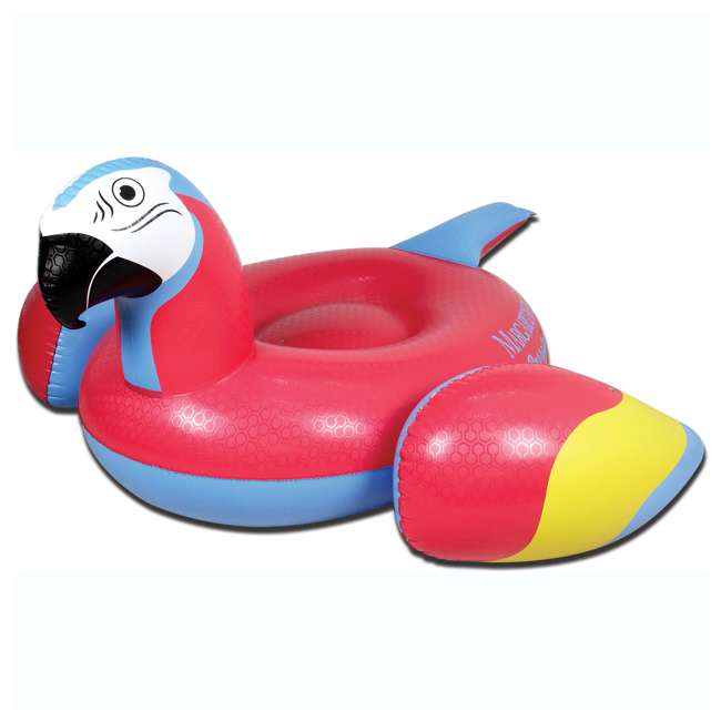 6 x 2183248-MW Margaritaville Swimming Pool Rideable Parrot Inflatable Float, Red (6 Pack) 1