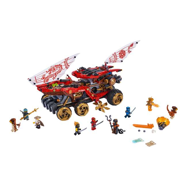 6250934 LEGO NINJAGO 70677 Land Bounty 1178 Piece Block Building Set w/ 9 Minifigures