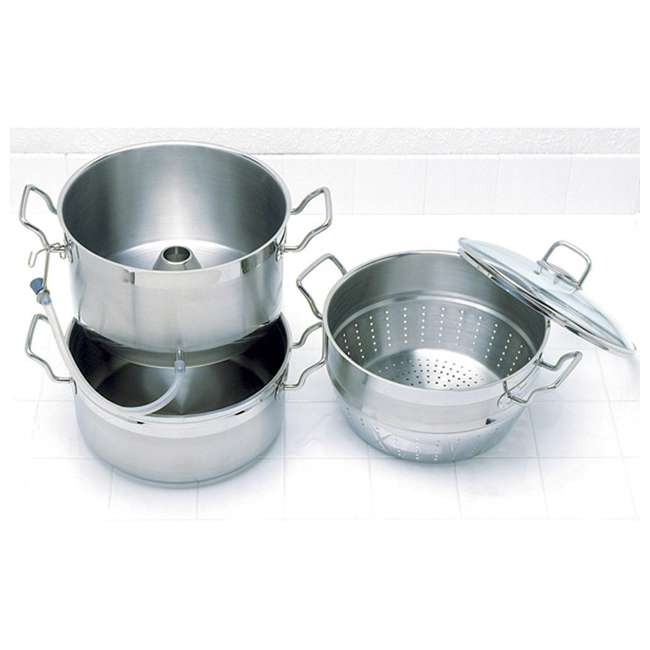 624 Norpro 624 Stainless Steel 11 Quart Steamer Pot and 4 Quart Juicer Container 1