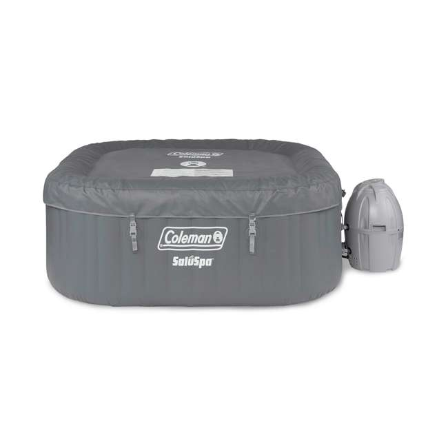15442-BW + 58416-BW Coleman 4 Person Portable Inflatable Hot Tub (2 Pack) & Plastic Drinks Holder 2