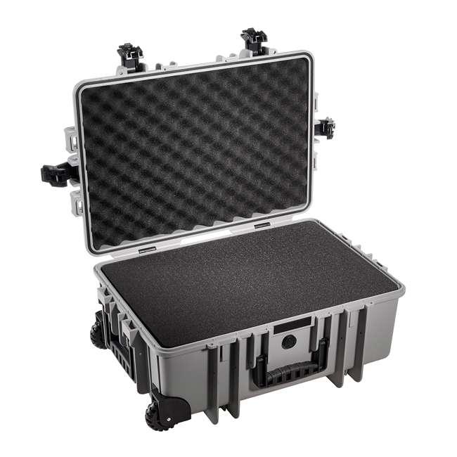 6700/B/SI B&W International 6700/B/SI 42.8 L Plastic Outdoor Case w/ Wheels & Foam Insert 1
