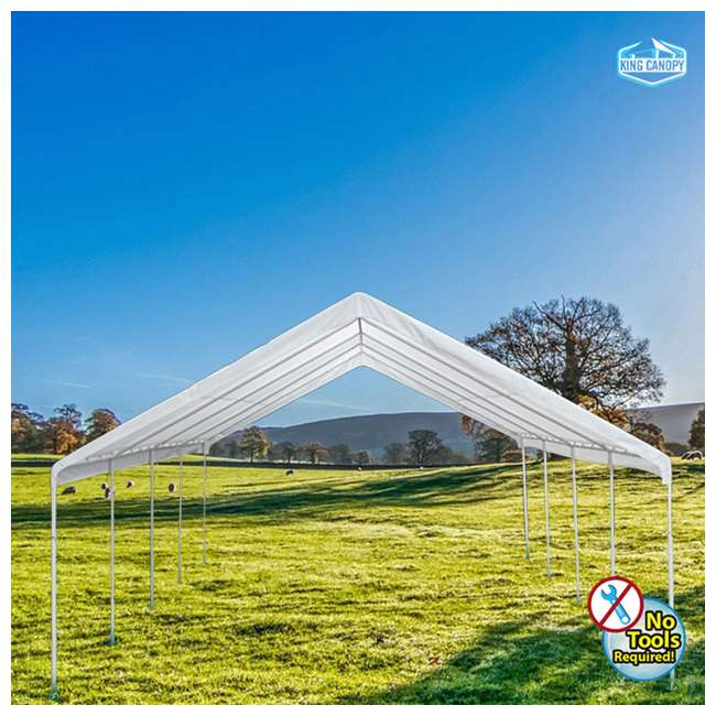 EX1220 King Canopy 12 x 20, 20 x 20 Foot Universal Canopy White 4