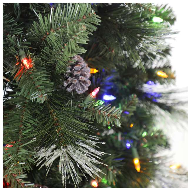 TG66M3ABAD00-U-A Home Heritage Lincoln 6.5' 400 Bulb Christmas Tree, Pine Cones/Glitter(Open Box) 3