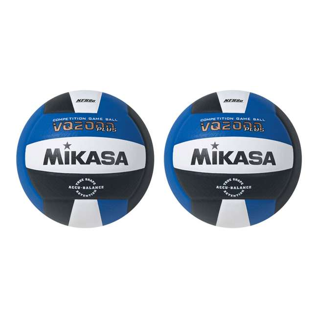 VQ2000-RBW Mikasa USA Size 5 Composite Volleyball, Dark Blue (2 Pack)