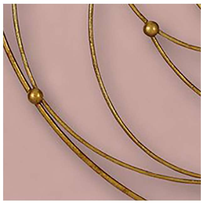 2641-P Majestic Mirror Round Contemporary Gold Leaf Metal Decorative Accent Mirror 4