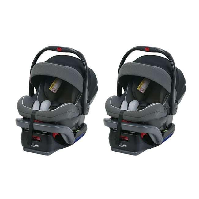 1992042 Graco SnugRide SnugLock 35 Platinum Infant Car Seat (2 Pack)