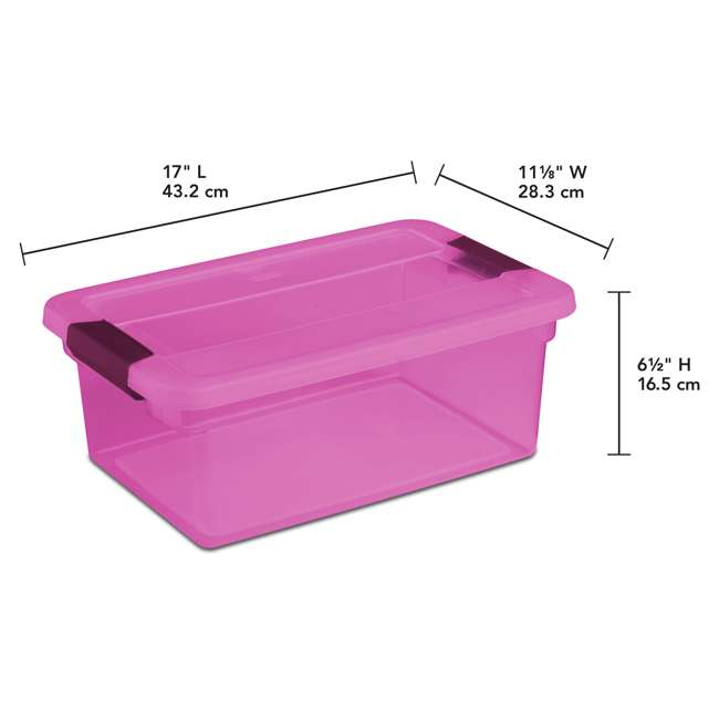 36 x 17535412 Sterilite ClearView Latch 15 Quart Plastic Storage Container, Purple (36 Pack) 1