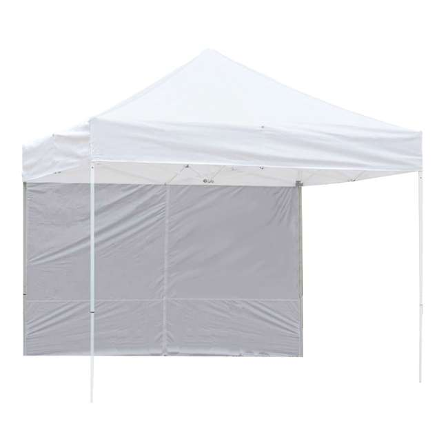 ZS10PKSSWTWH-U-A Z-Shade 10' White Instant Canopy Tent Sidewall Accessory Only (Open Box)(2 Pack)