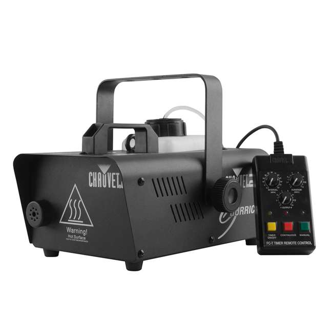 H1200 + HFG-FLUID Chauvet DJ Hurricane 1200 1.0L Pro Fog Machine with Chauvet 1 Gallon Fog Fluid 1