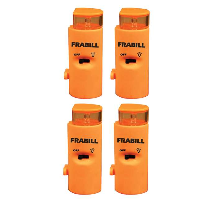4 x 1681 Frabill 1681 Arctic Fire Ice Fishing Battery Powered LED Tip Up Light (4 Pack)