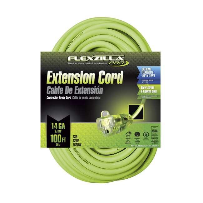 LEG-721-143100FZL5F Flexzilla 100-Foot Pro Extension Cord, 14/3 AWG SJTW 1