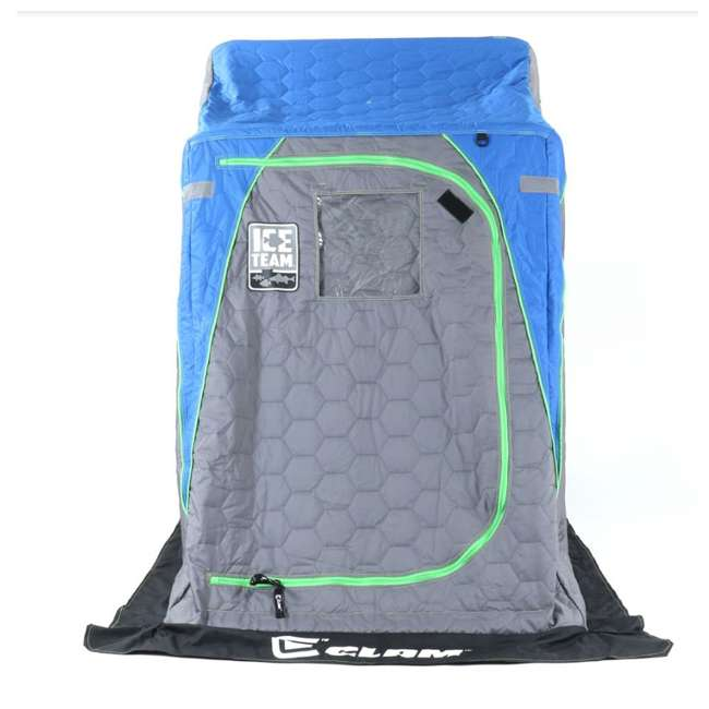 CLAM-10941 Clam 10941 Legend XL Thermal Ice Fishing Shelter with Deluxe Swivel Seat, Blue 1