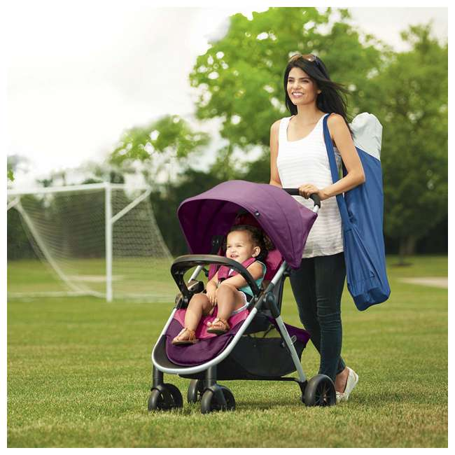 56311987 Evenflo Folio Tri Fold All in 1 Reliable Durable Baby Travel System, Blackberry 4