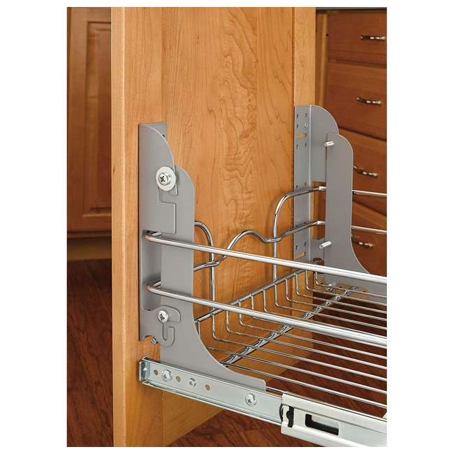 3 x 5WB2-2122-CR Rev-A-Shelf 5WB 2 Tier 21 Inch Wire Basket Pull Out Cabinet Organizer (3 Pack) 7