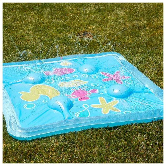 WMO-61850 Wham-O Backyard Sea Creature Printed Children's Splash Pad with Inflatable Rim 1